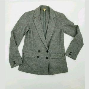 J. Crew 4 Benny Blazer 100% Wool Gray